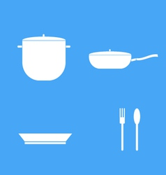 Icon set of kitchen vector