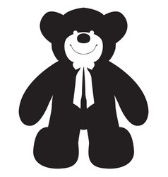 Isolated teddy bear vector