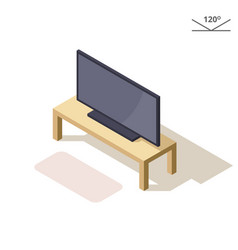 isometric or 3d flat plasma or lcd vector image