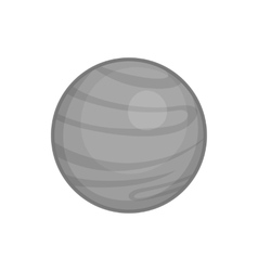 Jupiter planet icon black monochrome style vector