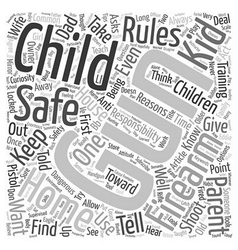 Kids and Guns text background wordcloud concept vector image