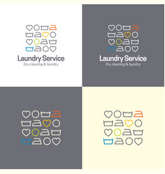 laundry service icon and logo vector image