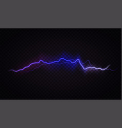 lightning flash effect realistic electric vector image