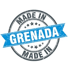 made in Grenada blue round vintage stamp vector image