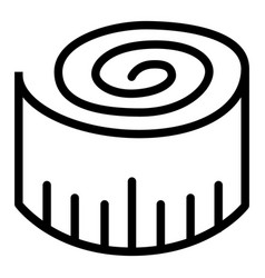 Measuring tape line icon length vector