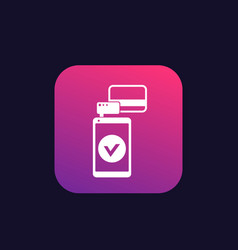 mobile terminal icon vector image