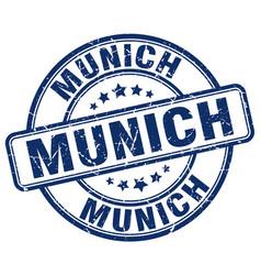 Munich blue grunge round vintage rubber stamp vector