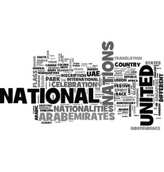 Nations word cloud concept vector
