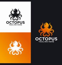 octopus logo design templates stock vector image
