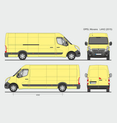 Opel movano cargo delivery van 2015 l4h2 vector