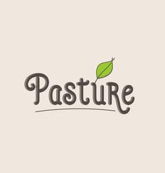 Pasture word text typography design logo icon vector