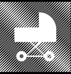 pram sign icon hole in vector image
