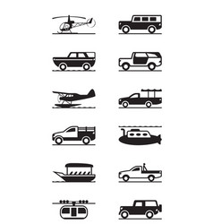 Safari and adventure vehicles vector