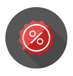 Sale flat design label percent icon sale vector