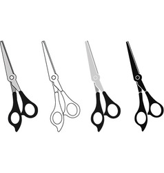 Scissor Icon Set vector