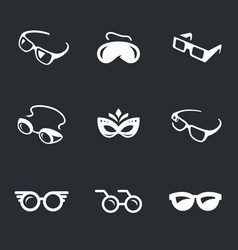 Set of glasses icons vector