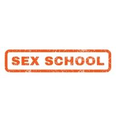 Sex School Rubber Stamp vector