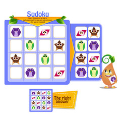 shapes sudoku game iq vector image