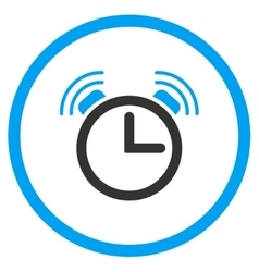 Siren Clock Rounded Icon vector
