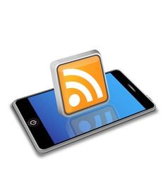 Smart phone rss vector