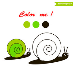 snail coloring book vector image