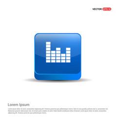 sound beats icon - 3d blue button vector image