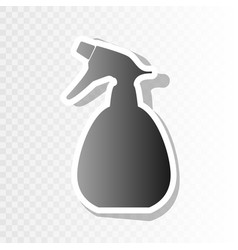 spray bottle for cleaning sign new year vector image