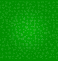 st patricks day clover green pattern of shamrocks vector image
