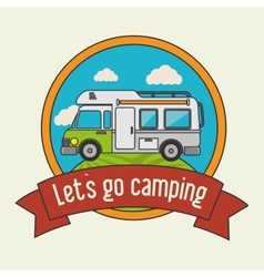 Summer camping and travel vector