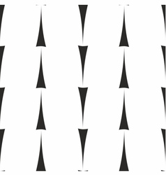 Tile pattern with black arrows on white background vector image