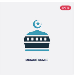 Two color mosque domes icon from religion concept vector