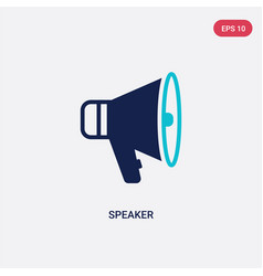 Two color speaker icon from electronic stuff fill vector