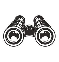 Vintage binoculars template vector