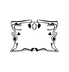 Vintage calligraphic square frame decorative vector