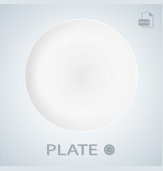 White porcellan plate isolated on a background vector