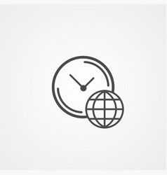 world clock icon sign symbol vector image