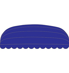 Blue awning vector image