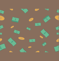 cash and coin seamless pattern vector image