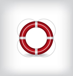 Life Buoy red vector image vector image