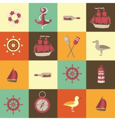 navigation seamless background with sea elements vector image