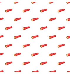 Red flashlight pattern cartoon style vector image vector image