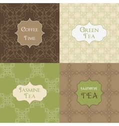 seamless patterns for background and stickers vector image