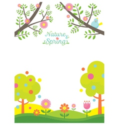 Spring Season Background vector image