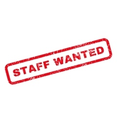 Staff Wanted Rubber Stamp vector image