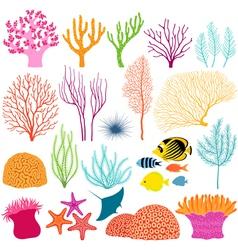 Underwater design elements vector