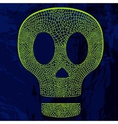 Decorative skull on grunge background vector