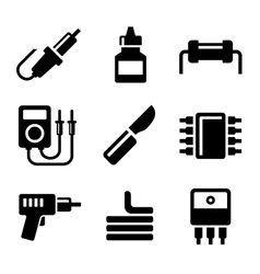 Solder Icons Set vector image vector image