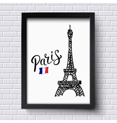 Tourism poster or card design for Paris vector image