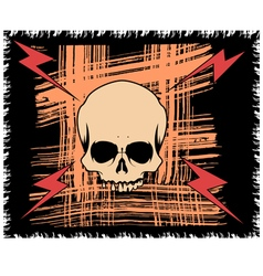Grange background with scull and lightning vector image vector image