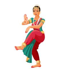 bharatanatyam or bharathanatiyam woman dancer vector image